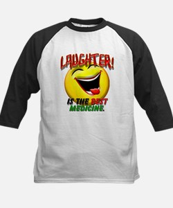 Laughter is the Best Medicine Kids Baseball Jersey