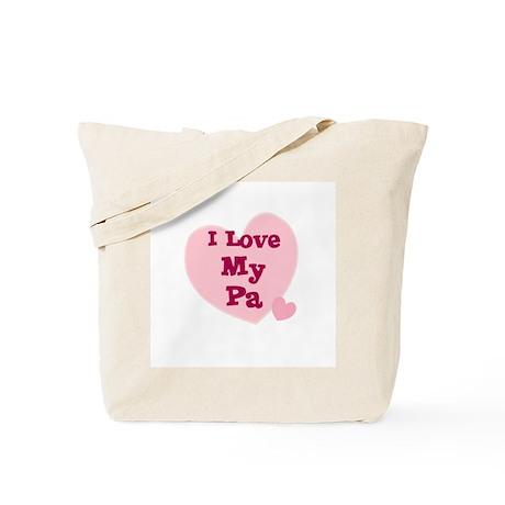 I Love My Pa Tote Bag