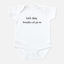 Can't sleep, Armadillos will Infant Bodysuit
