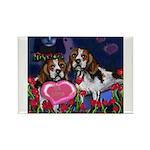 BEAGLE valentine Rectangle Magnet (100 pack)