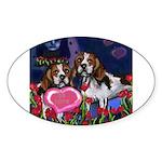 BEAGLE valentine Oval Sticker