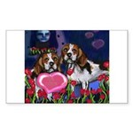 BEAGLE valentine Rectangle Sticker