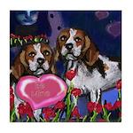BEAGLE valentine Tile Coaster