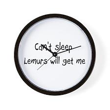 Can't sleep Lemurs will get m Wall Clock