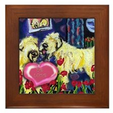 SOFT COATED WHEATEN Valentine Framed Tile