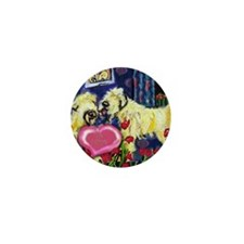 SOFT COATED WHEATEN Valentine Mini Button