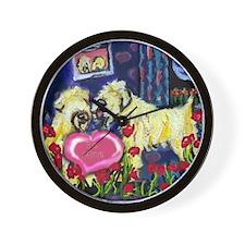SOFT COATED WHEATEN Valentine Wall Clock