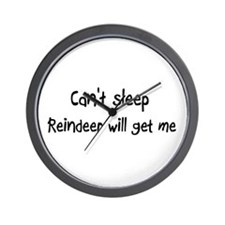 Can't sleep Reindeer will get Wall Clock