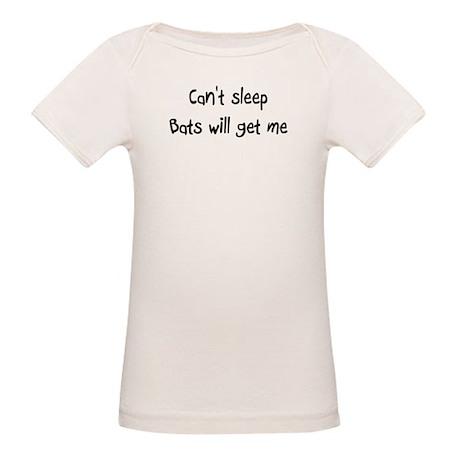 Can't sleep Bats will get me, Organic Baby T-Shirt