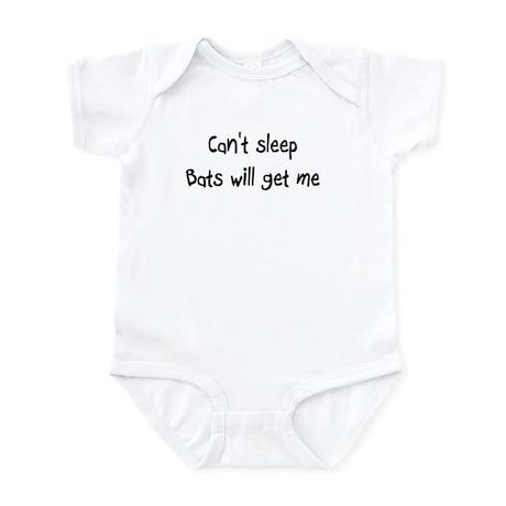 Can't sleep Bats will get me, Infant Bodysuit