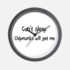 Can't sleep Chipmunks will ge Wall Clock