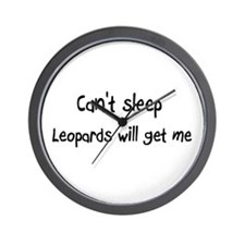 Can't sleep Leopards will get Wall Clock