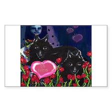 Schipperke Valentine Rectangle Decal
