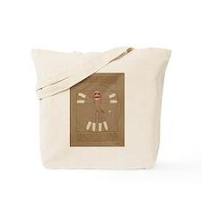 Vitruvian Sock Monkey Tote Bag