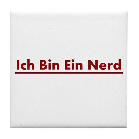ich bin ein nerd tile coaster by sinister wear. Black Bedroom Furniture Sets. Home Design Ideas