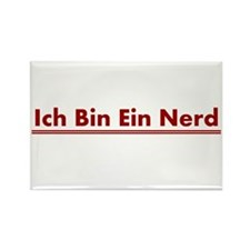 Ich Bin Ein Nerd Rectangle Magnet