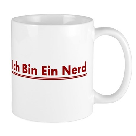 ich bin ein nerd mug by sinister wear. Black Bedroom Furniture Sets. Home Design Ideas