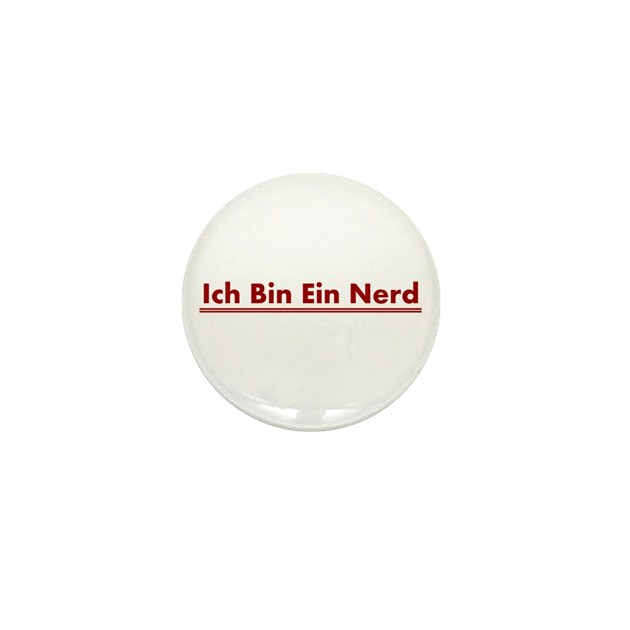 ich bin ein nerd mini button by sinister wear. Black Bedroom Furniture Sets. Home Design Ideas