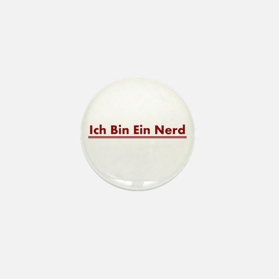 Ich Bin Ein Nerd Mini Button
