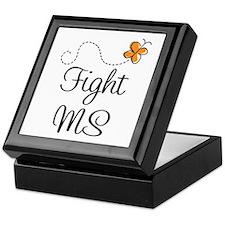 Orange Fight MS Butterfly Keepsake Box
