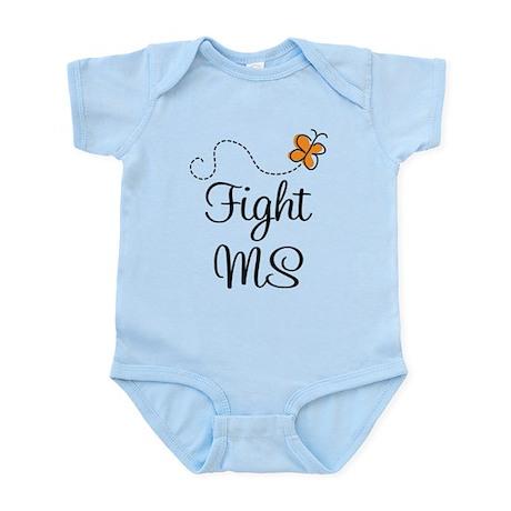 Orange Fight MS Butterfly Infant Bodysuit