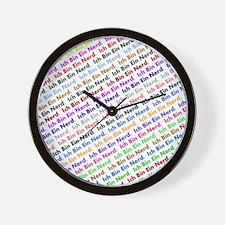 Ich Bin Ein Nerd - Tiled Wall Clock