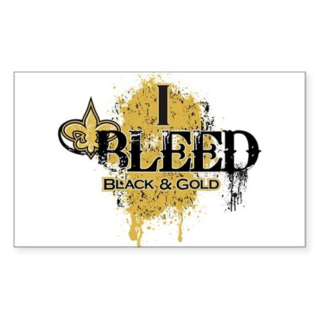 I Bleed Black and Gold Sticker (Rectangle)