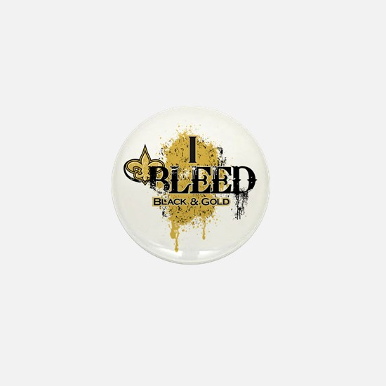 I Bleed Black and Gold Mini Button