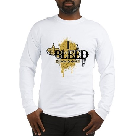 I Bleed Black and Gold Long Sleeve T-Shirt