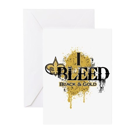 I Bleed Black and Gold Greeting Cards (Pk of 10)