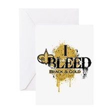 I Bleed Black and Gold Greeting Card