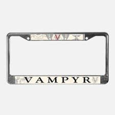 Vampyr Crest License Plate Frame