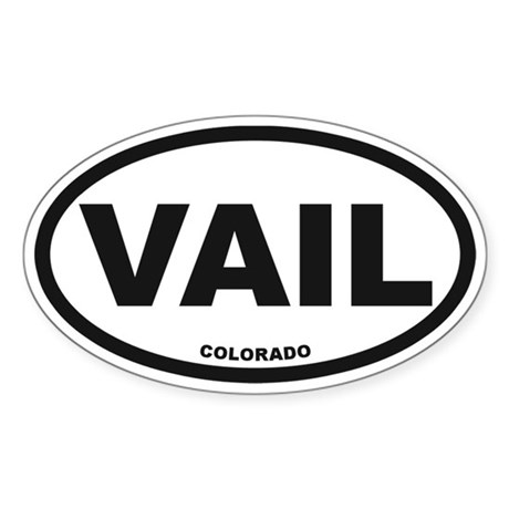 Vail Colorado Sticker (Oval)