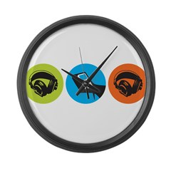 Triple Dot Soul Large Wall Clock