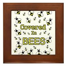 COVERED IN BEES Framed Tile