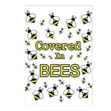 COVERED IN BEES Postcards (Package of 8)