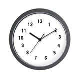 13 hour Wall Clocks