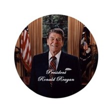 "President Ronald Reagan - 3.5"" Button"