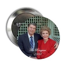 """President Ronald Reagan - 2.25"""" Button"""