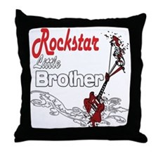 Rockstar Little Brother Throw Pillow