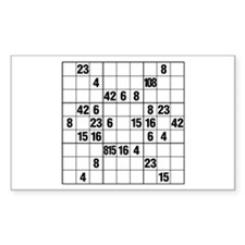 LOST Sudoku Decal