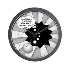 Sometimes Wall Clock (Black/White)