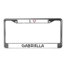 I Love Gabriella License Plate Frame