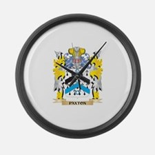 Paxton Family Crest - Coat of Arm Large Wall Clock