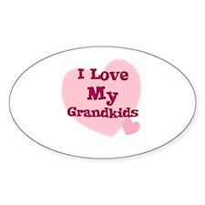 I Love My Grandkids Oval Decal