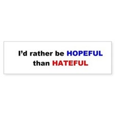 Hopeful Bumper Bumper Sticker