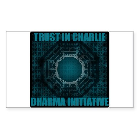 Trust in Charlie - Dharma Num Sticker (Rectangle)