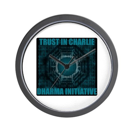 Trust in Charlie - Dharma Num Wall Clock