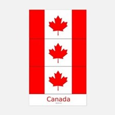 Flag of Canada Stickers 3pcs
