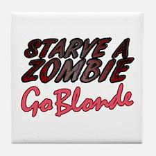 Starve a Zombie Tile Coaster